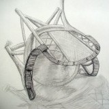 wicker chair - pencil on paper