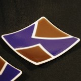 square plates - fused glass