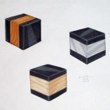 material cubes - marker on paper