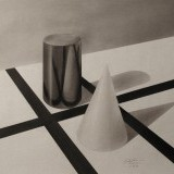 primitive shapes: reflections and shadows - nupastel on paper