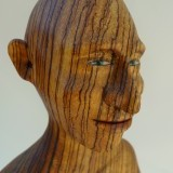 Detail of boxer in zebra wood , SOLD