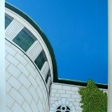 Wellman Hall , UC Berkeley , 36 x 48 inches ,  acrylic paint on canvas, $650.